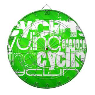 循環; ネオン緑のストライプ ダーツボード