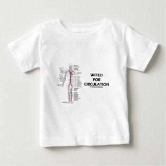 循環(循環系)のためにワイヤーで縛られる ベビーTシャツ