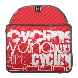 循環; 深紅の赤のストライプ MacBook PROスリーブ