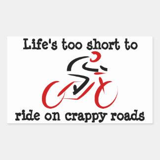 循環: 短い生命余りにcrappy道で乗るため 長方形シール