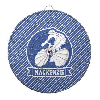循環; 青及び白のストライプ、スポーツ ダーツボード