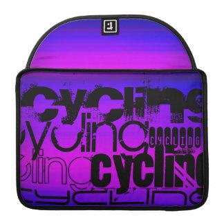 循環; 鮮やかなすみれ色の青およびマゼンタ MacBook PROスリーブ