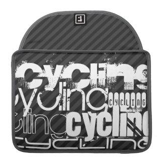 循環; 黒及びダークグレーは縞で飾ります MacBook PROスリーブ