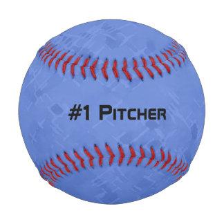 微妙で明るく青いパターン 野球ボール