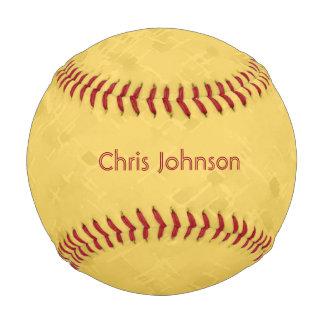 微妙で明るく黄色いパターン 野球ボール