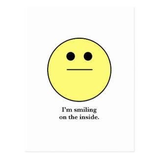微笑していない人のためのにこやかな顔 ポストカード