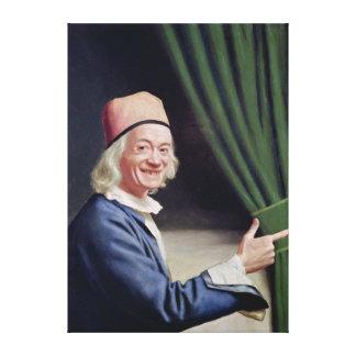 微笑する自画像c.1770-73 キャンバスプリント