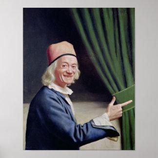微笑する自画像c.1770-73 ポスター