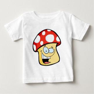 微笑のきのこのマンガのキャラクタ ベビーTシャツ
