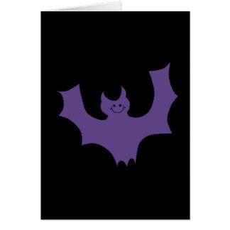 微笑のこうもり。 暗い紫色 カード