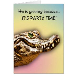 微笑のわにパーティの招待状 カード