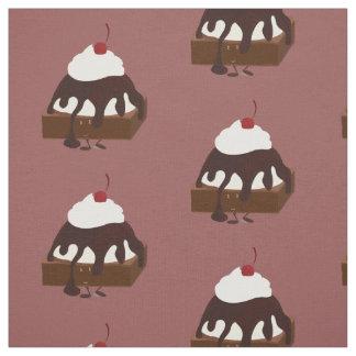 微笑のアイスクリームはブラウニーを越えました ファブリック