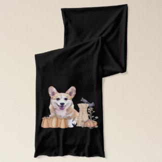 微笑のウェルシュコーギーの子犬 スカーフ