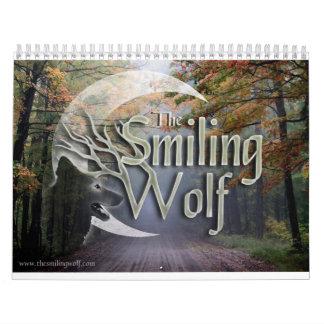 微笑のオオカミの写真撮影のカレンダー カレンダー