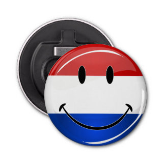 微笑のオランダのオランダの旗 栓抜き