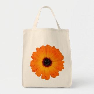 微笑のオレンジ花 トートバッグ