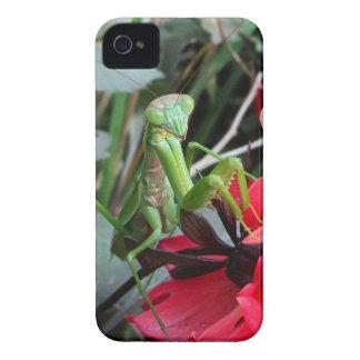微笑のカマキリの~のブラックベリーのはっきりしたな穹窖やっと Case-Mate iPhone 4 ケース