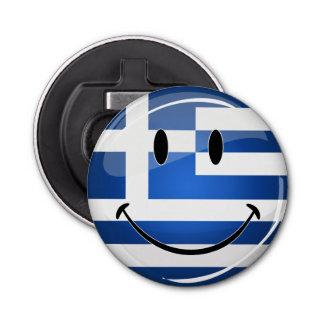 微笑のギリシャの旗 栓抜き