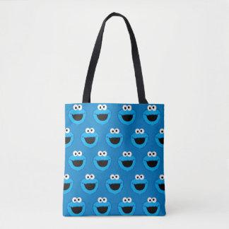 微笑のクッキーモンスターパターン トートバッグ