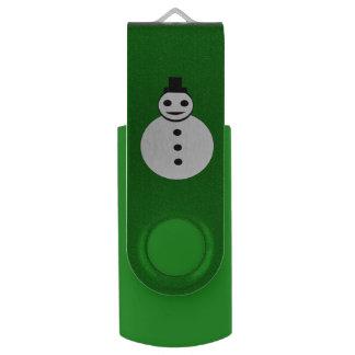 微笑のクリスマスの雪だるまのカスタムUSBドライブ USBフラッシュドライブ