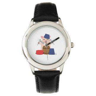 微笑のコブタ 腕時計