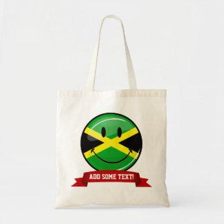 微笑のジャマイカの旗 トートバッグ