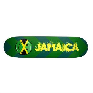 微笑のジャマイカの旗 21.6CM オールドスクールスケートボードデッキ