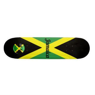 微笑のジャマイカの旗 21.6CM スケートボードデッキ