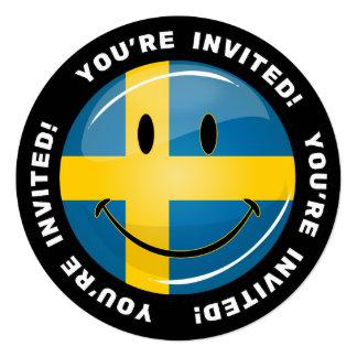 微笑のスウェーデンの旗 カード