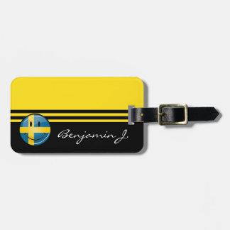 微笑のスウェーデンの旗 ラゲッジタグ