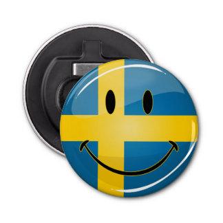 微笑のスウェーデンの旗 栓抜き