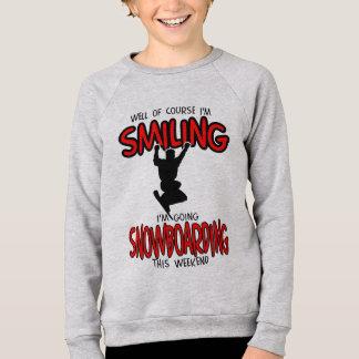 微笑のスノーボードの週末2.PNG スウェットシャツ