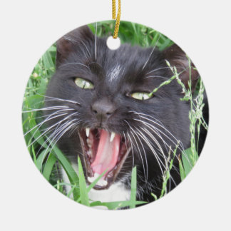 微笑のタキシード猫- セラミックオーナメント