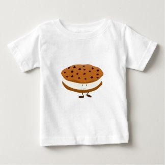 微笑のチョコチップクッキーサンドイッチ ベビーTシャツ
