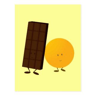 微笑のチョコレート・バーおよびオレンジ ポストカード