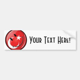 微笑のトルコの旗 バンパーステッカー