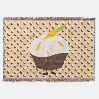 微笑のニンジン・ケーキのカップケーキ スローブランケット