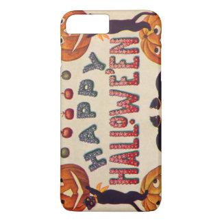 微笑のハロウィーンのカボチャのちょうちんのカボチャ黒猫のりんご iPhone 8 PLUS/7 PLUSケース