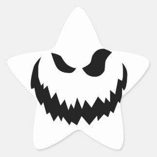 微笑のハロウィーンのカボチャのちょうちん 星シール