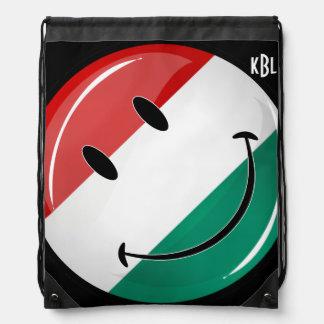 微笑のハンガリーの旗 ナップサック