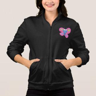 微笑のピンクの蝶レディースジャケット