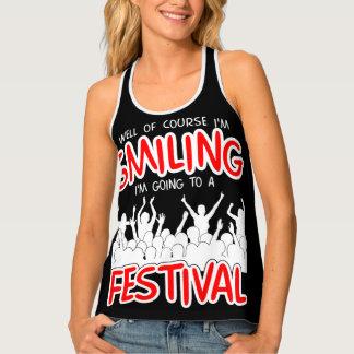 微笑のフェスティバル(白い) タンクトップ