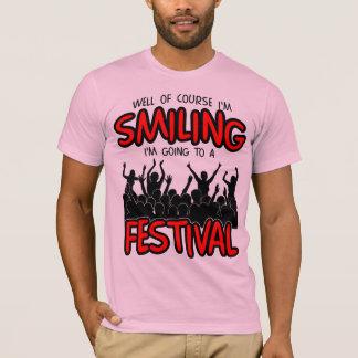 微笑のフェスティバル(blk) tシャツ