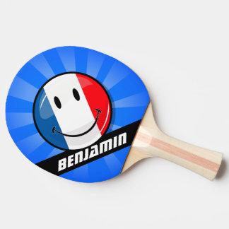 微笑のフランスのな旗 卓球ラケット
