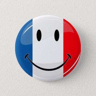 微笑のフランスのな旗 缶バッジ