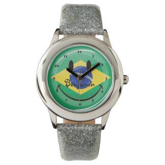 微笑のブラジルの旗 腕時計