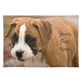 微笑のボクサー犬のランチョンマット ランチョンマット