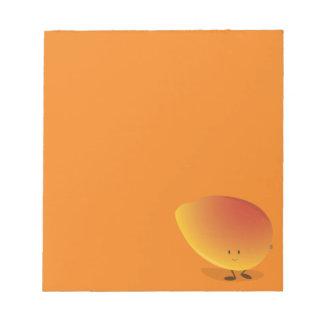 微笑のマンゴのキャラクター ノートパッド
