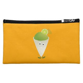 微笑のライム風味を付けられた雪の円錐形 コスメティックバッグ