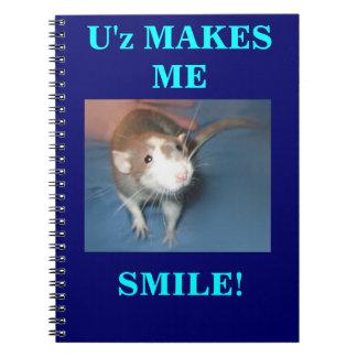 微笑のラットのノート ノートブック
